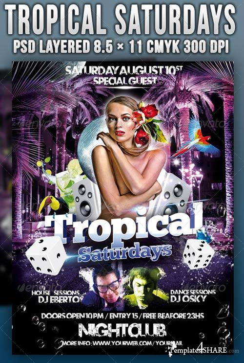 GraphicRiver Tropical Saturdays Party
