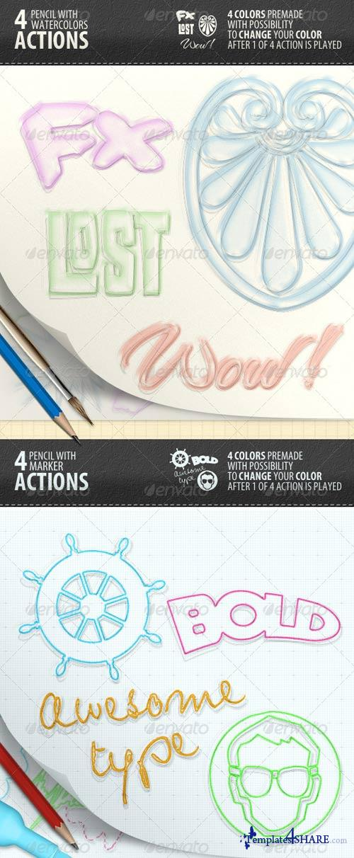 GraphicRiver Pencil Creator - Photoshop Actions