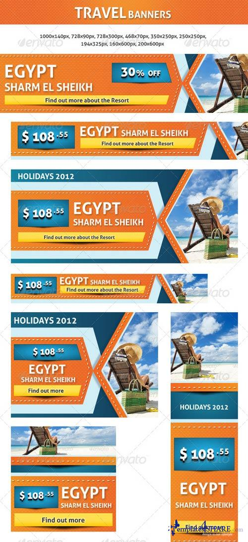 GraphicRiver Travel Banners
