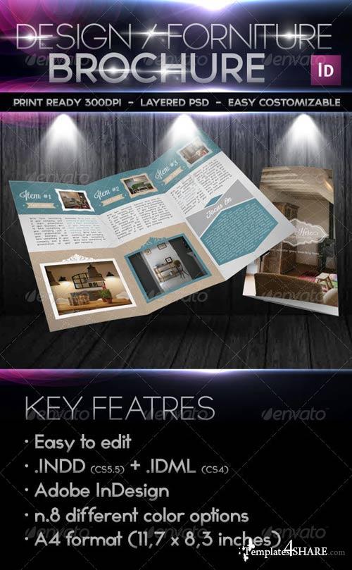 GraphicRiver Design Forniture Retro Trifold Brochure