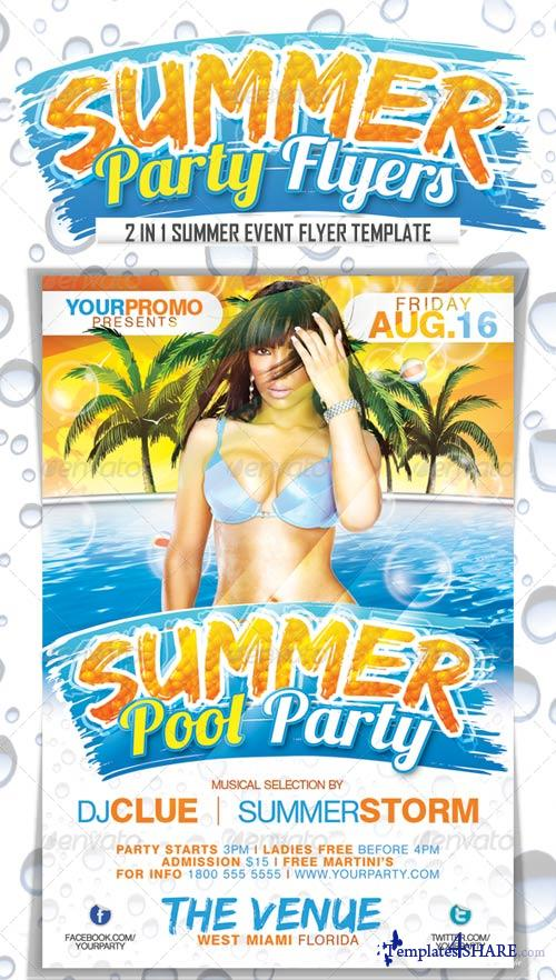GraphicRiver Summer Party Flyers