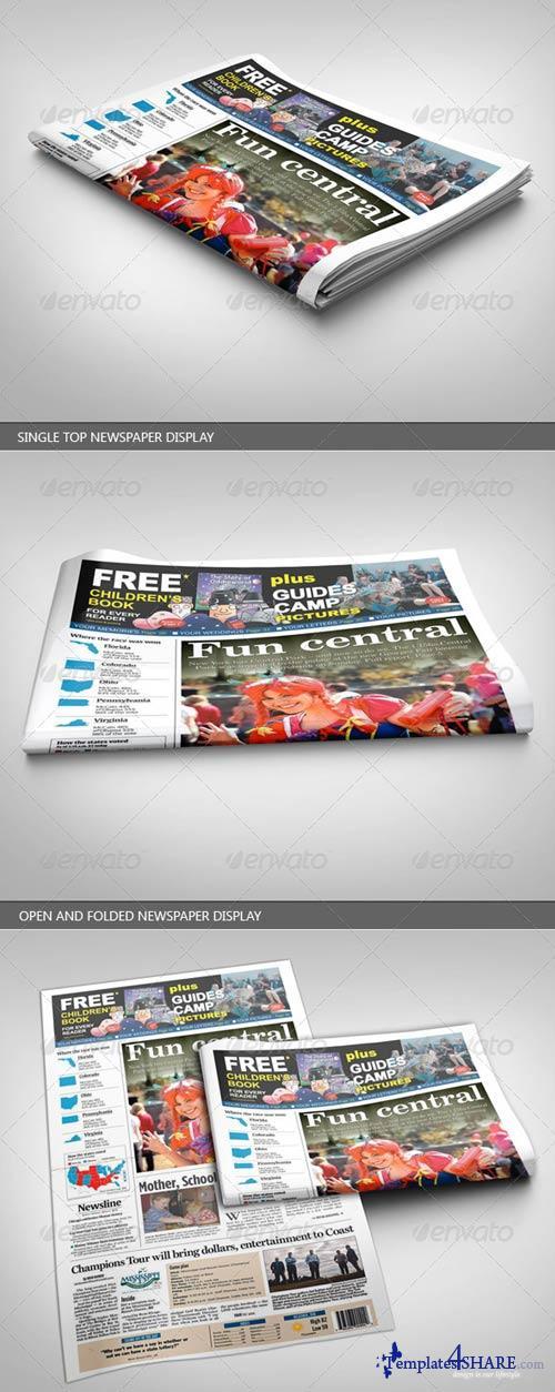 GraphicRiver Newspaper Display Mockup