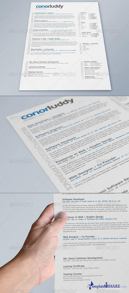 graphicriver resume mock up x3 pack cv mock up