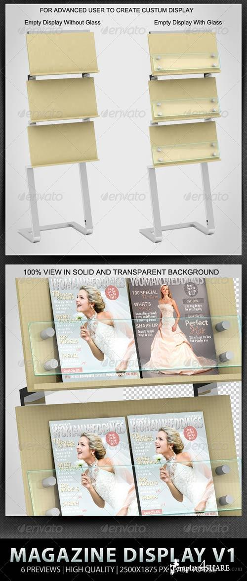 GraphicRiver Professional Magazine Display Mock-up V1