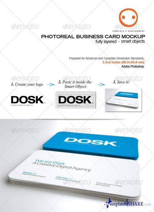 GraphicRiver Photoreal Business Card Mockup