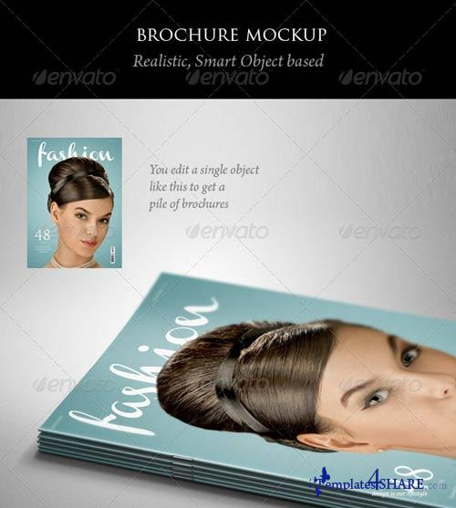 GraphicRiver Brochure or Magazine Mockup