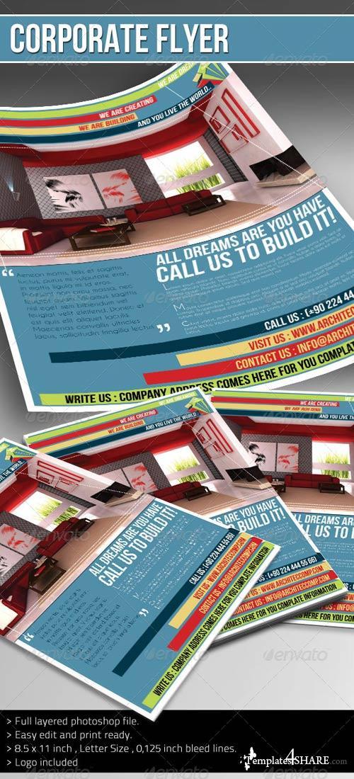 GraphicRiver Corporate Flyer - (Architect)