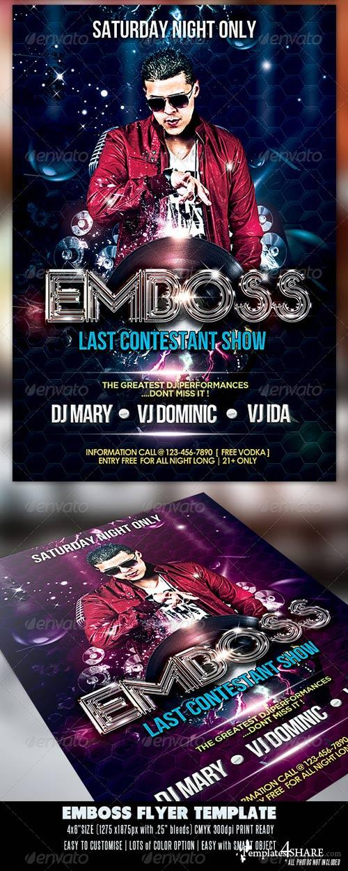 GraphicRiver Emboss Party Flyer