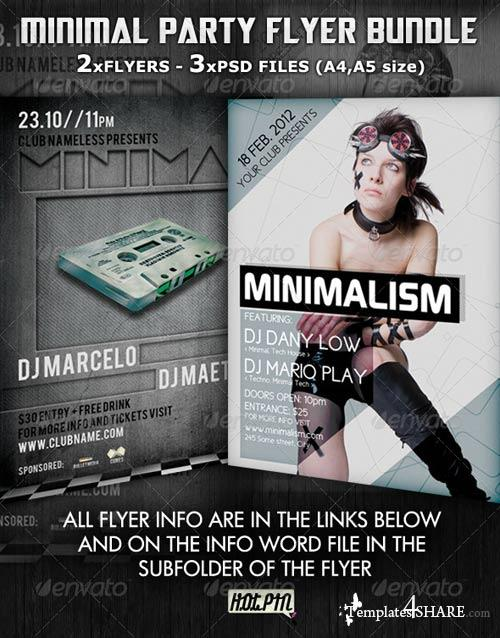 GraphicRiver Minimal Party Flyer Template Bundle