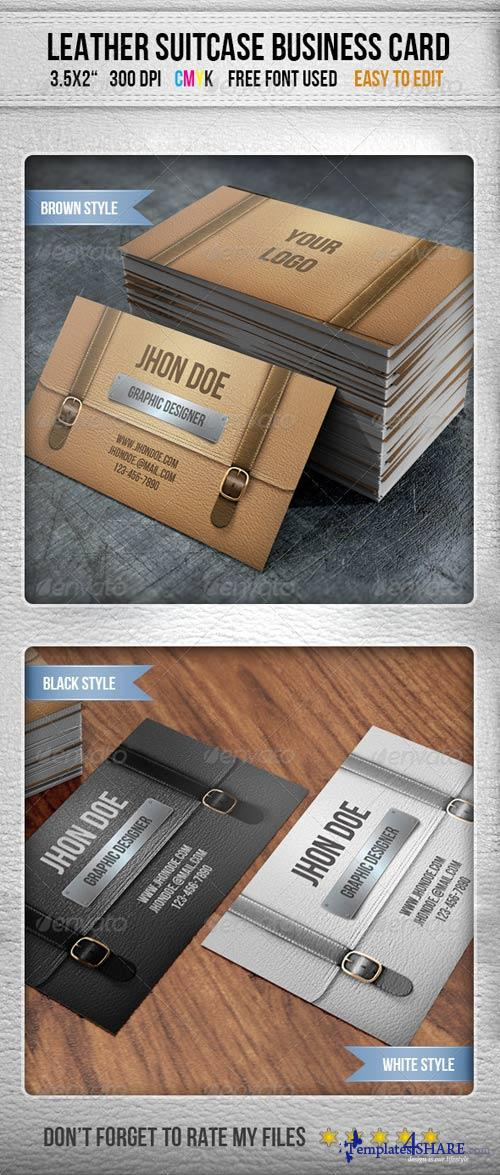 GraphicRiver Leather Briefcase Business Card