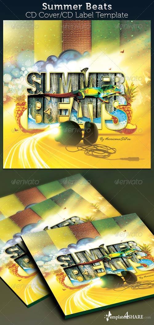 GraphicRiver Summer Beats CD Artwork Template
