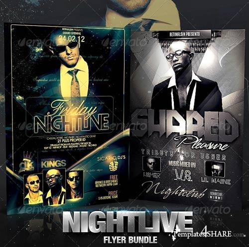 GraphicRiver Nightlive Flyer Bundle