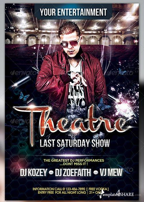 GraphicRiver Theatre Flyer Template