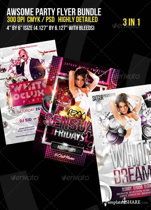 GraphicRiver Awsome Party Flyer Bundle