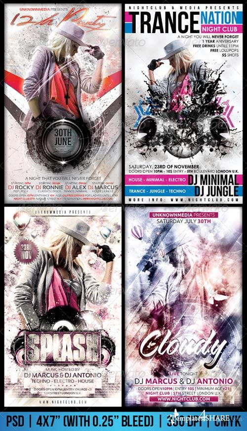 GraphicRiver White Flyer Bundle