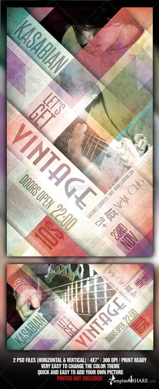 GraphicRiver Vintage Flyer Template