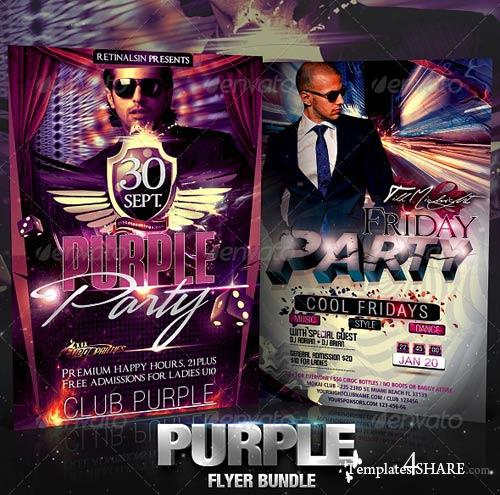 GraphicRiver Purple Flyer Bundle