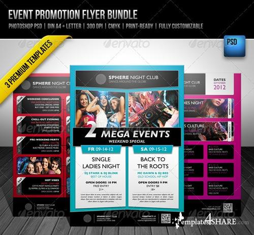 GraphicRiver Event Promotion Flyer Bundle