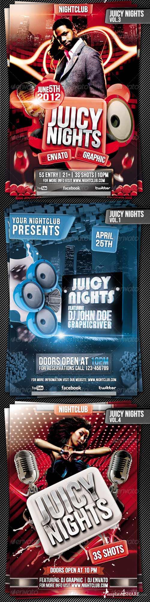 GraphicRiver Juicy Nights Flyer Template Bundle