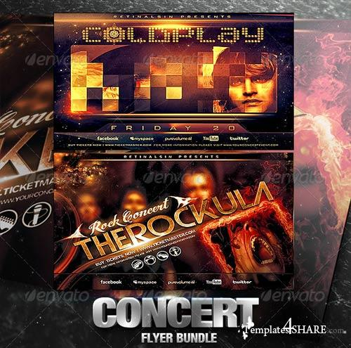 GraphicRiver Concert Flyer Bundle