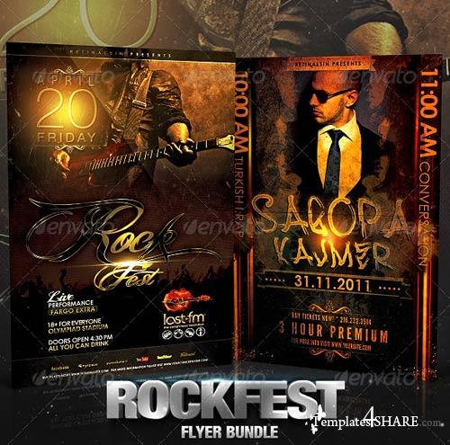 GraphicRiver Rockfest Flyer Bundle