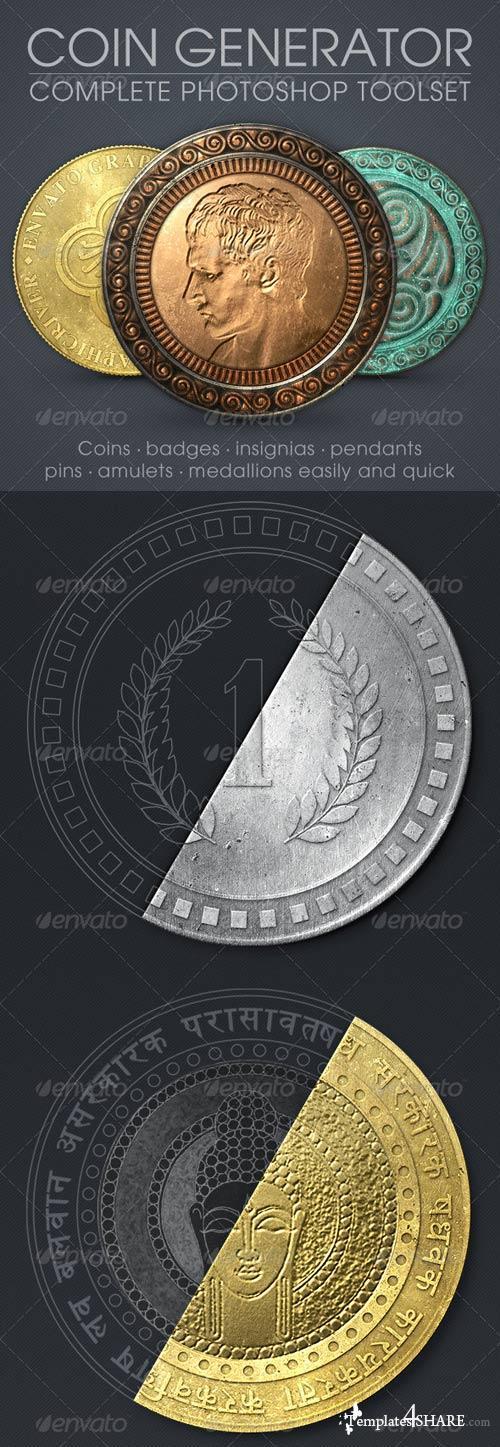 GraphicRiver Coin Generator