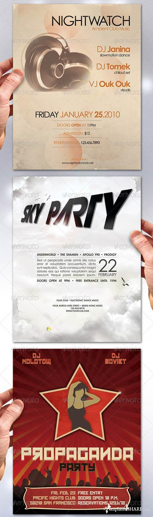 GraphicRiver Music Flyer Bundle No.6