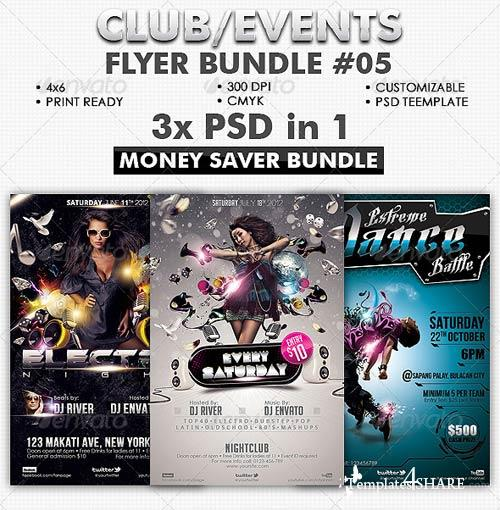 GraphicRiver Club/Events Flyer Bundle #05