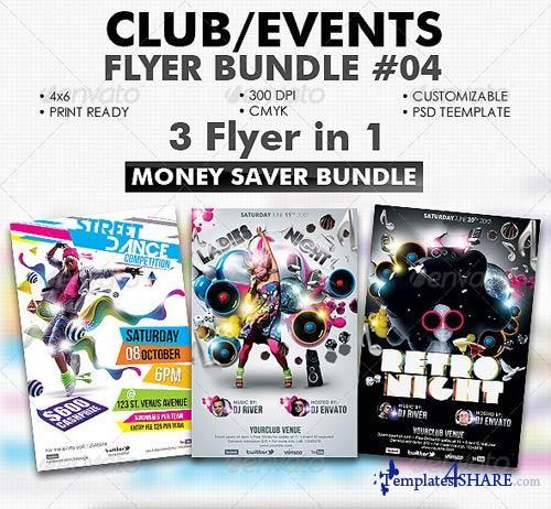 GraphicRiver Club/Events Flyer Bundle #04