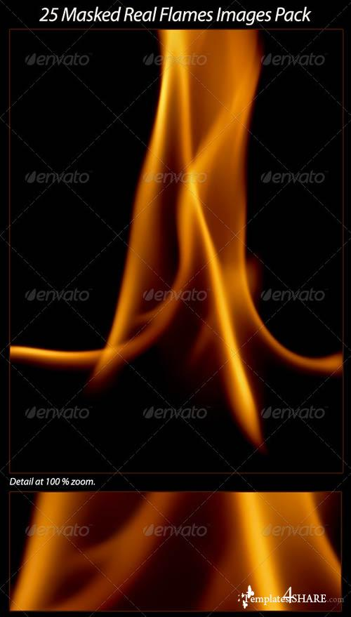 GraphicRiver 25 Real Flames Pack