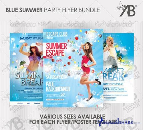 GraphicRiver Summer Party Flyer/Poster Bundle