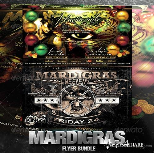 GraphicRiver Mardigras Flyer Bundle