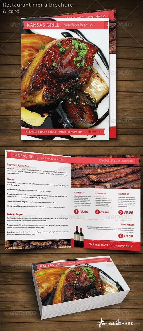 GraphicRiver Restaurant Food menu brochure card