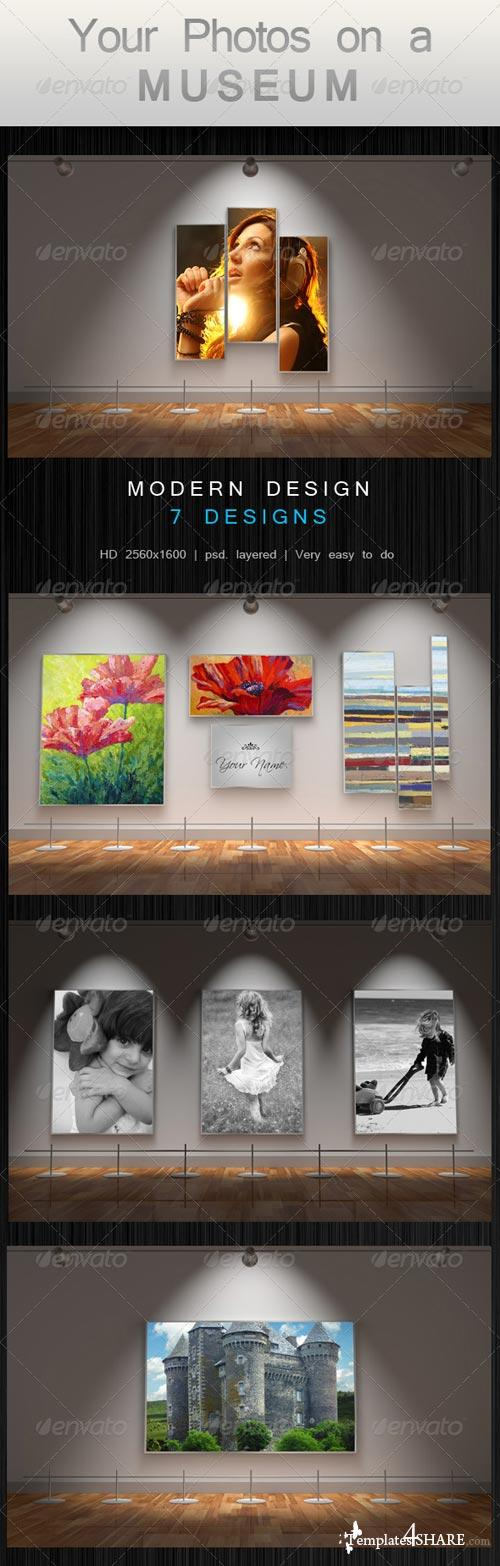 GraphicRiver Your Photos on a Museum