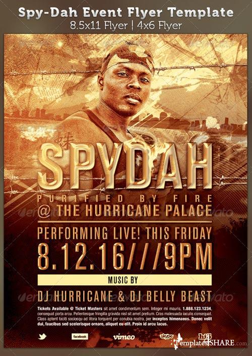GraphicRiver Spy-dah: Music Event Flyer Template