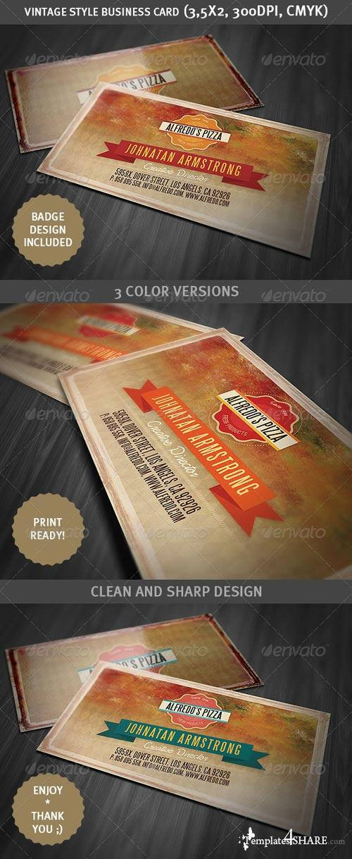 GraphicRiver Grunge Style Business Card 2
