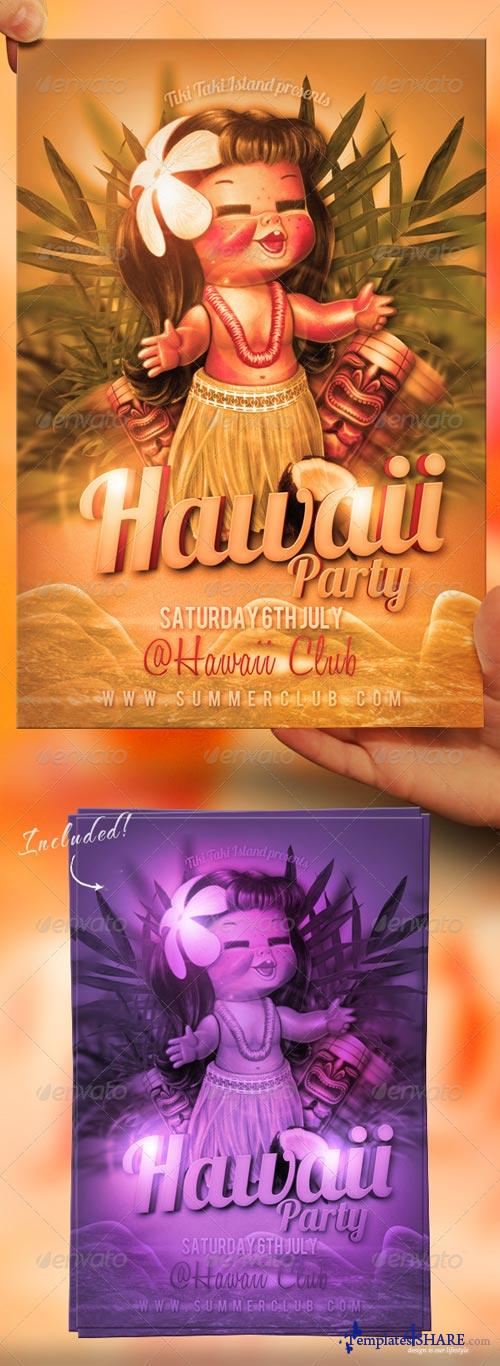 GraphicRiver Hawaii Flyer Template