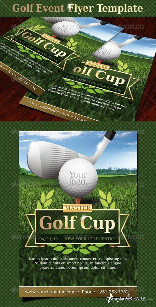 GraphicRiver Golf event flyer template