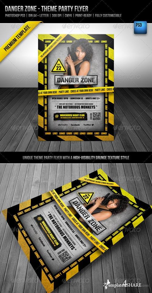 GraphicRiver Danger Zone - Theme Party Flyer