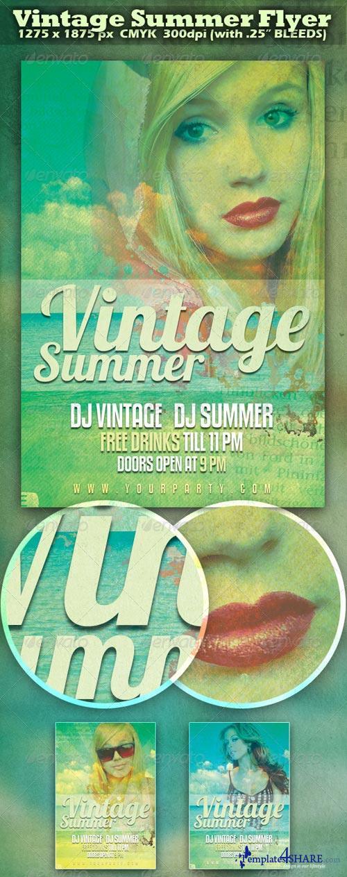 GraphicRiver Vintage Summer Flyer