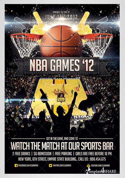 GraphicRiver BasketBall Sports Flyer Template