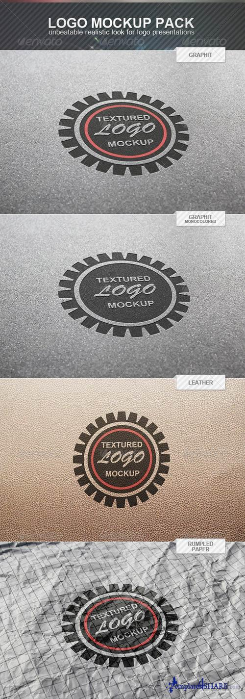 GraphicRiver Textured Logo Mockup Pack