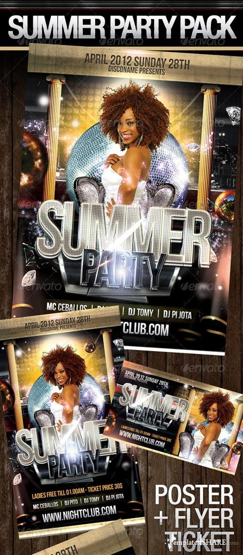 GraphicRiver Summer Party Pack