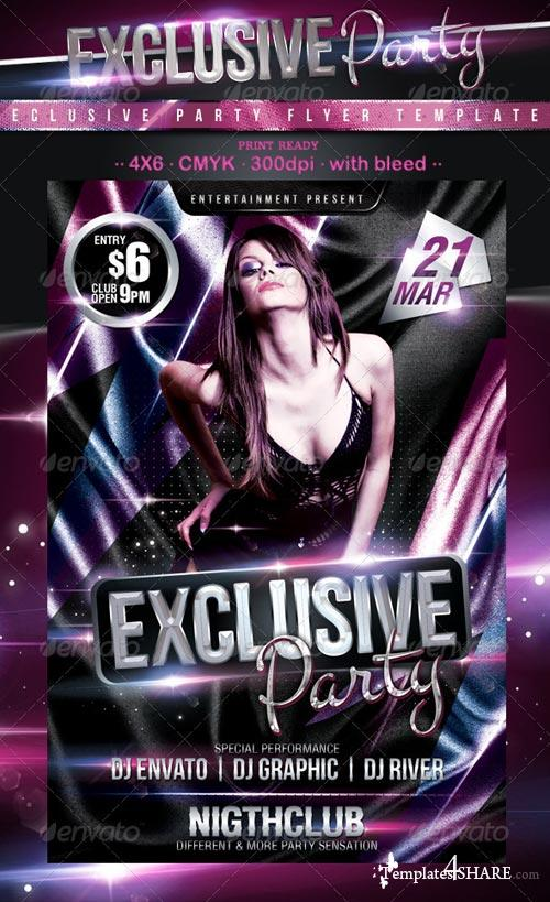 GraphicRiver Exclusive Party Flyer 1938227
