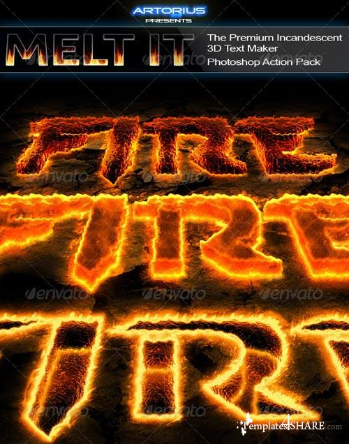 GraphicRiver Melt It - The Premium Incandescent 3D Text Maker