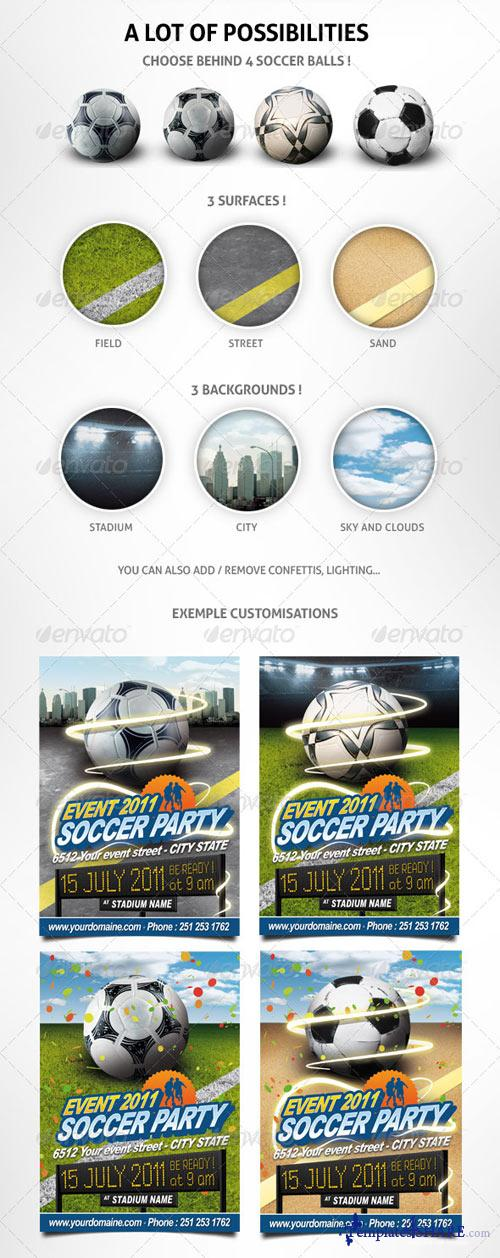 GraphicRiver Soccer event flyer