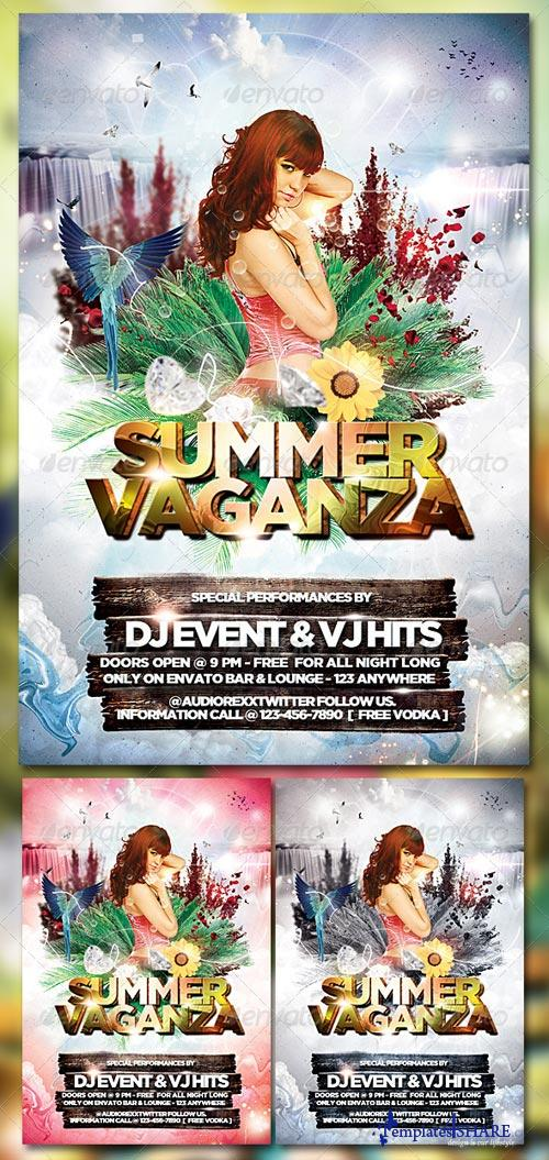 GraphicRiver Summer Vaganza Flyer