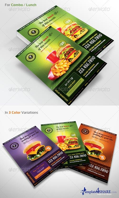 GraphicRiver Restaurant Menu Offer Flyer