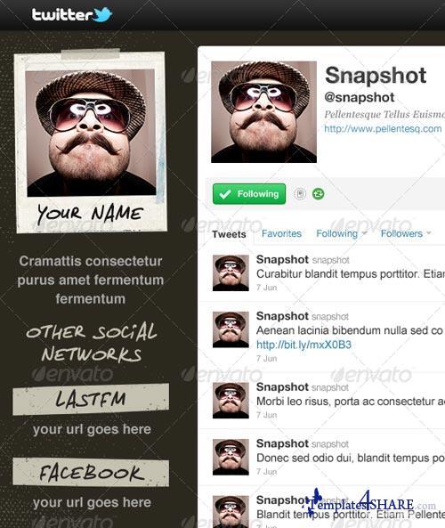 GraphicRiver Snapshot - Twitter Background