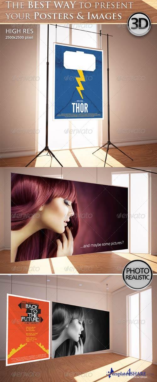 GraphicRiver Poster Interior Mockup